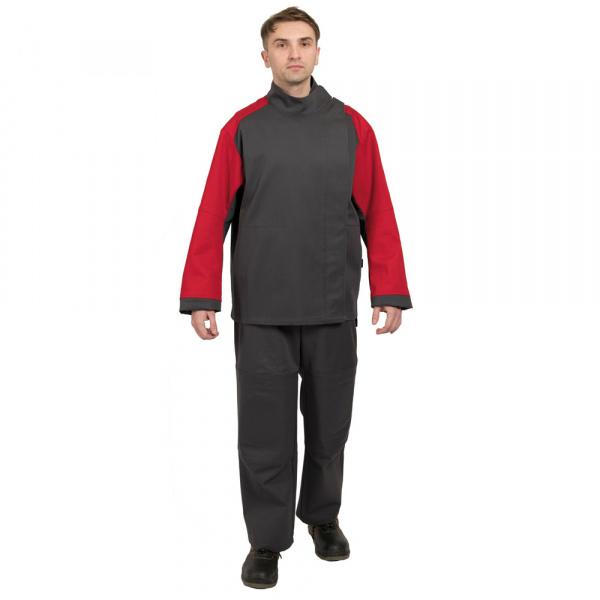 Костюм для защиты от повышенных температур Гектор серый с красным